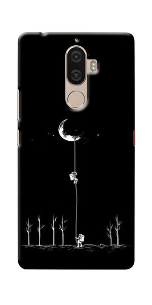 Digiprints Climbing The Moon Printed Designer Back Case Cover For Lenovo K8 Plus