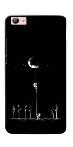 Digiprints Climbing The Moon Printed Designer Back Case Cover For Vivo V5S