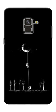 Climbing The Moon Printed Designer Back Case Cover For Samsung Galaxy A8 Plus 2018