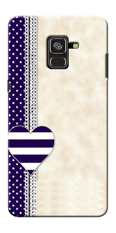 Heart Design Love Pattern Printed Designer Back Case Cover For Samsung Galaxy A8 Plus 2018
