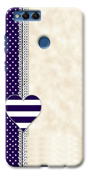 Digiprints Heart Design Love Pattern Printed Designer Back Case Cover For Huawei Honor 7X