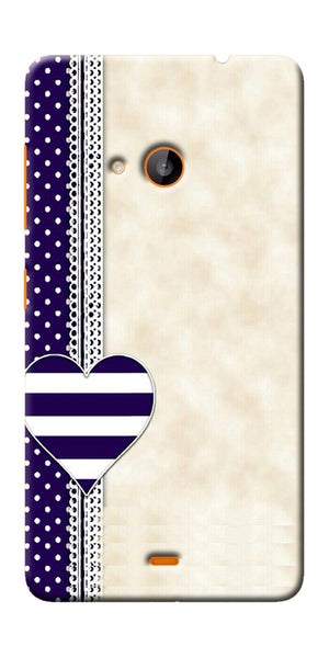 Digiprints Heart Design Love Pattern Printed Designer Back Case Cover For Microsoft Lumia 540