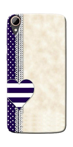 Heart Design Love Pattern Printed Designer Back Case Cover For HTC Desire 828