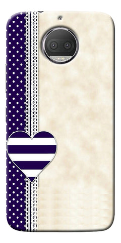Heart Design Love Pattern Printed Designer Back Case Cover For Motorola Moto G5S Plus