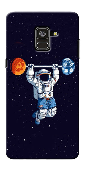 Astranaut Lifting Planets Printed Designer Back Case Cover For Samsung Galaxy A8 Plus 2018