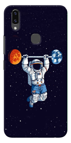 Astranaut Lifting Planets Printed Designer Back Case Cover For Vivo V9
