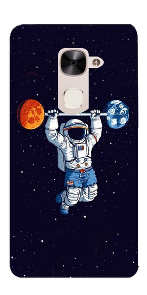 Astranaut Lifting Planets Printed Designer Back Case Cover For LeEco Le 2