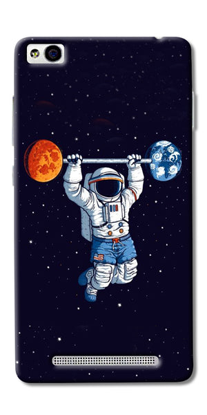 Astranaut Lifting Planets Printed Designer Back Case Cover For Xiaomi Redmi 3s