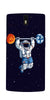 Digiprints Astranaut Lifting Planets Printed Designer Back Case Cover For OnePlus 1