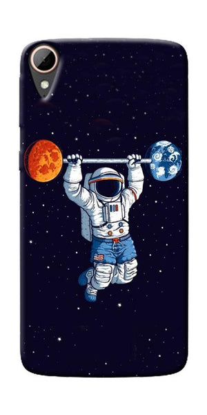Astranaut Lifting Planets Printed Designer Back Case Cover For HTC Desire 828