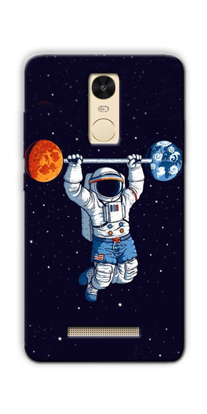 Astranaut Lifting Planets Printed Designer Back Case Cover For Xiaomi Redmi Note 3