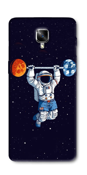 Astranaut Lifting Planets Printed Designer Back Case Cover For OnePlus 3T