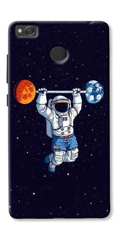 Astranaut Lifting Planets Printed Designer Back Case Cover For Xiaomi Redmi 4