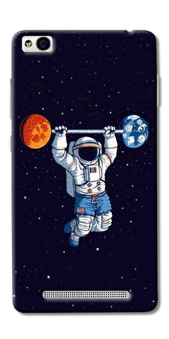 Astranaut Lifting Planets Printed Designer Back Case Cover For Xiaomi Redmi 4A