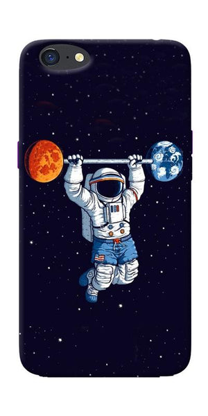 Astranaut Lifting Planets Printed Designer Back Case Cover For Oppo A71