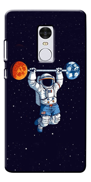 Astranaut Lifting Planets Printed Designer Back Case Cover For Xiaomi Redmi Note 4