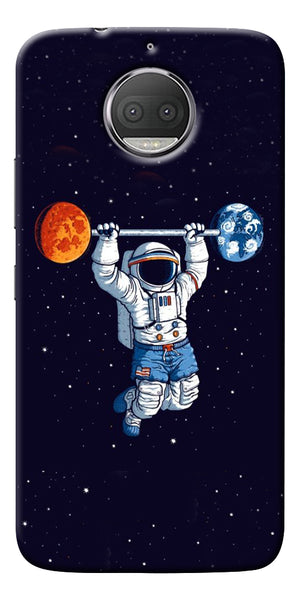 Astranaut Lifting Planets Printed Designer Back Case Cover For Motorola Moto G5S Plus
