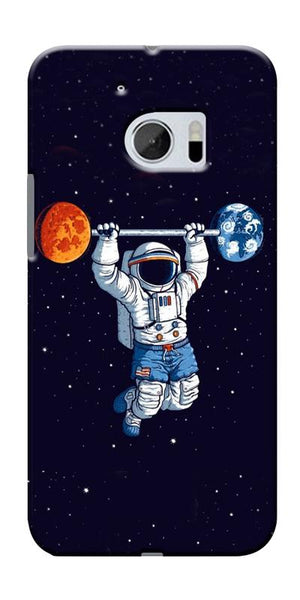 Astranaut Lifting Planets Printed Designer Back Case Cover For HTC 10