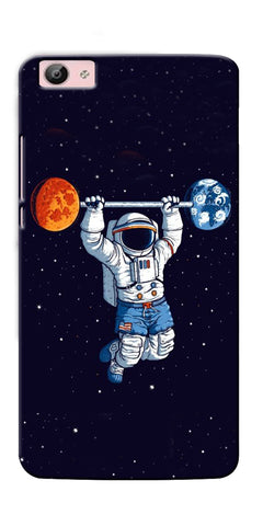 Digiprints Astranaut Lifting Planets Printed Designer Back Case Cover For Vivo V5S