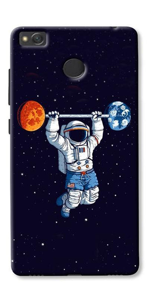 Astranaut Lifting Planets Printed Designer Back Case Cover For Xiaomi Redmi 3s Prime