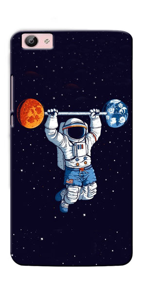 Digiprints Astranaut Lifting Planets Printed Designer Back Case Cover For Vivo V5 Plus