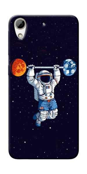 Astranaut Lifting Planets Printed Designer Back Case Cover For HTC Desire 626