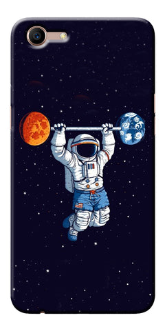 Astranaut Lifting Planets Printed Designer Back Case Cover For Oppo A83