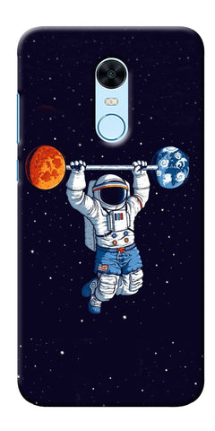 Astranaut Lifting Planets Printed Designer Back Case Cover For Xiaomi Redmi Note 5
