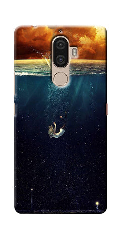 Digiprints Beautiful City In Sea Printed Designer Back Case Cover For Lenovo K8 Plus