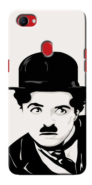 Digiprints Charlie Chaplin Printed Designer Back Case Cover For Oppo F7