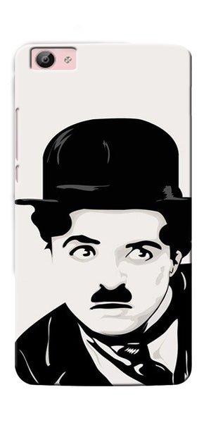 Digiprints Charlie Chaplin Printed Designer Back Case Cover For Vivo V5S