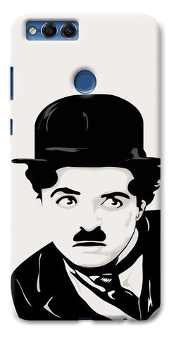 Digiprints Charlie Chaplin Printed Designer Back Case Cover For Huawei Honor 7X