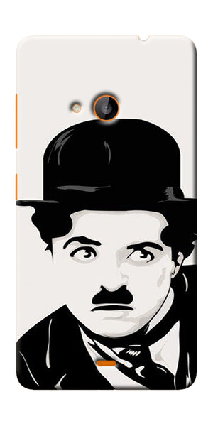 Digiprints Charlie Chaplin Printed Designer Back Case Cover For Microsoft Lumia 540