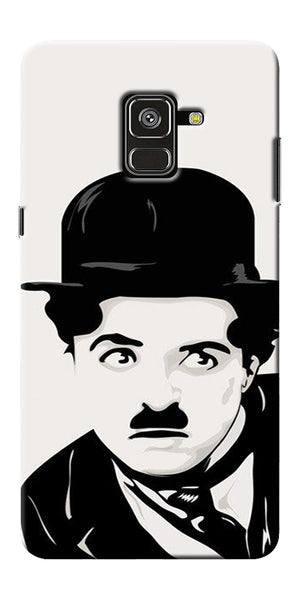 Charlie Chaplin Printed Designer Back Case Cover For Samsung Galaxy A8 Plus 2018