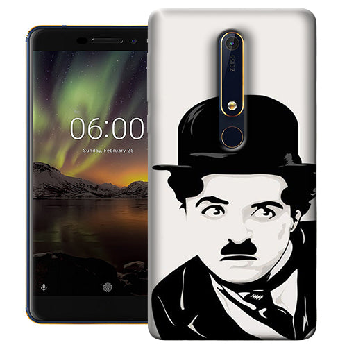 Digiprints Charlie Chaplin Printed Designer Back Case Cover For Nokia 6.1(2018)