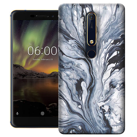 Digiprints Molten Lava Art Printed Designer Back Case Cover For Nokia 6.1(2018)