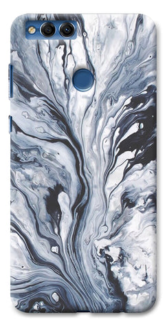 Digiprints Molten Lava Art Printed Designer Back Case Cover For Huawei Honor 7X