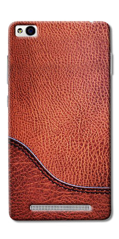 Brown Leather Design Printed Designer Back Case Cover For Xiaomi Redmi 3s