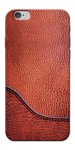 Digiprints Brown Leather Design Printed Designer Back Case Cover For Apple iPhone 6s