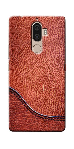 Digiprints Brown Leather Design Printed Designer Back Case Cover For Lenovo K8 Plus