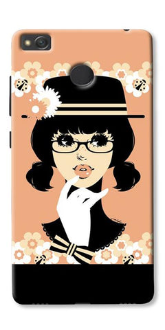 Thinking Lady Printed Designer Back Case Cover For Xiaomi Redmi 3s Prime