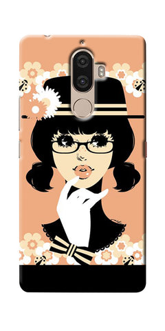 Digiprints Thinking Lady Printed Designer Back Case Cover For Lenovo K8 Plus