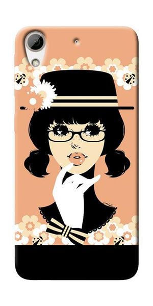 Thinking Lady Printed Designer Back Case Cover For HTC Desire 626