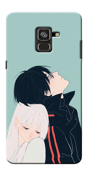Cute Couple Printed Designer Back Case Cover For Samsung Galaxy A8 Plus 2018
