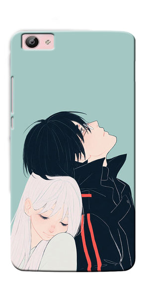 Digiprints Cute Couple Printed Designer Back Case Cover For Vivo V5S