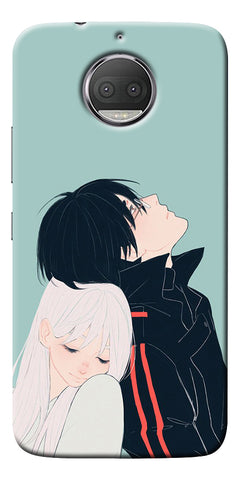 Cute Couple Printed Designer Back Case Cover For Motorola Moto G5S Plus