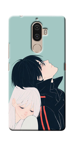 Digiprints Cute Couple Printed Designer Back Case Cover For Lenovo K8 Plus