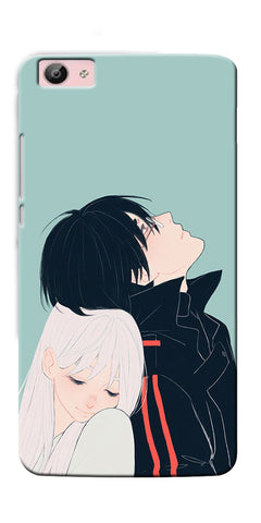 Digiprints Cute Couple Printed Designer Back Case Cover For Vivo V5 Plus