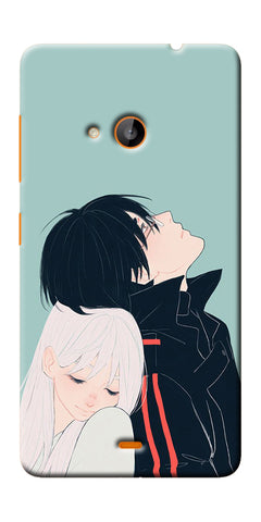Digiprints Cute Couple Printed Designer Back Case Cover For Microsoft Lumia 540