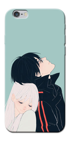 Digiprints Cute Couple Printed Designer Back Case Cover For Apple iPhone 6s